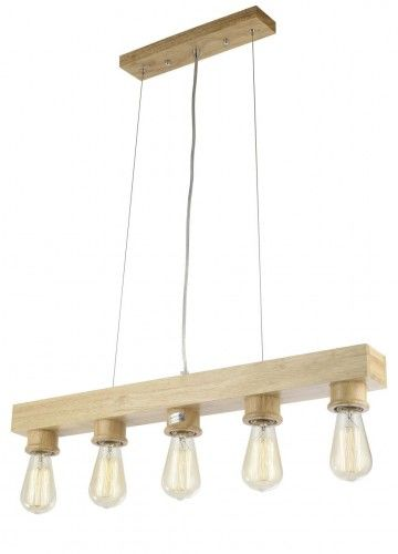 Lampa wisząca VELO MD6971-5 Auhilon nowoczesna oprawa świetlna w kolorze drewna naturalnego