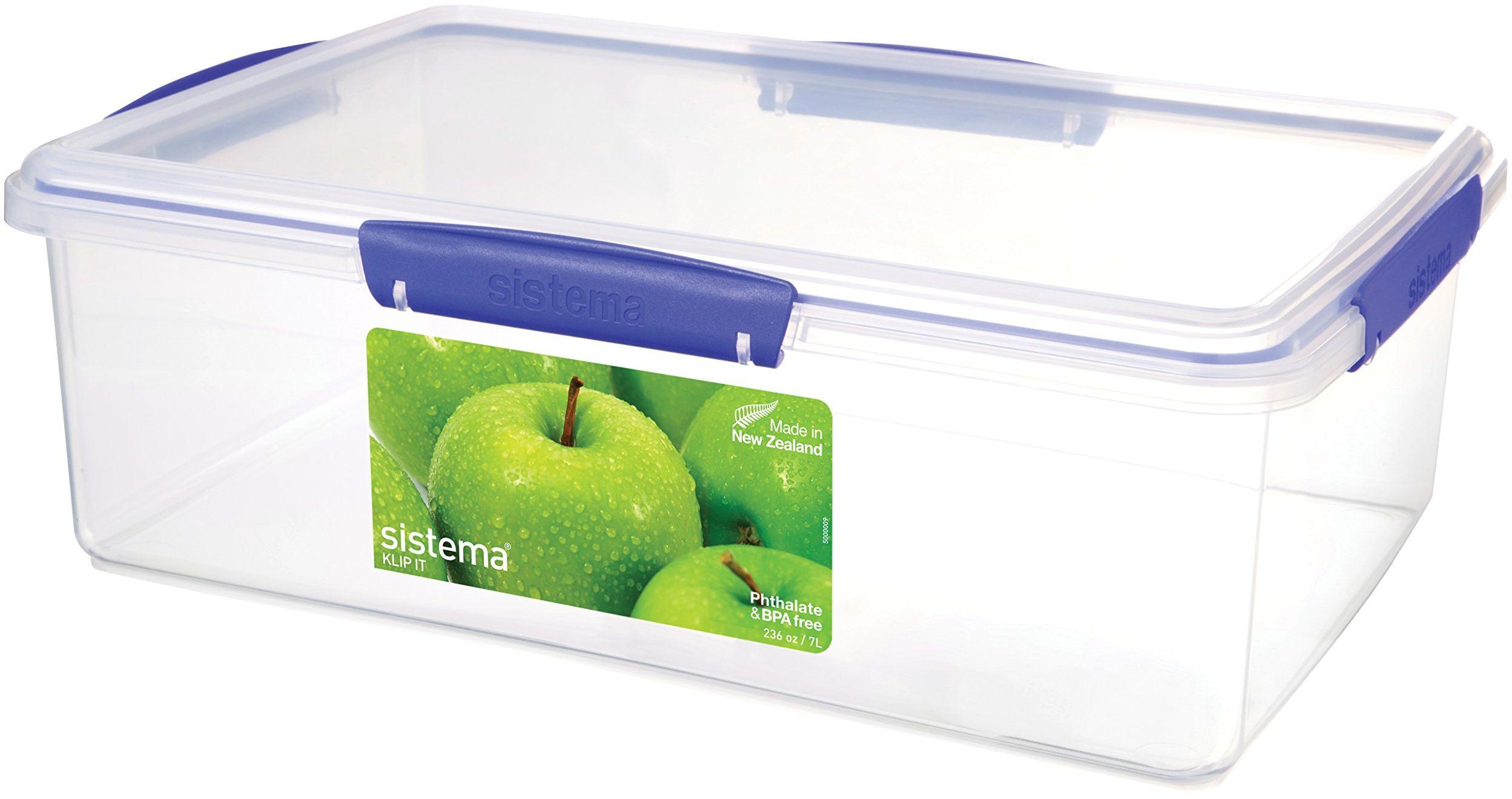 Sistema KLIP IT pojemnik do przechowywania żywności, niebieskie klipsy, 7 litrów