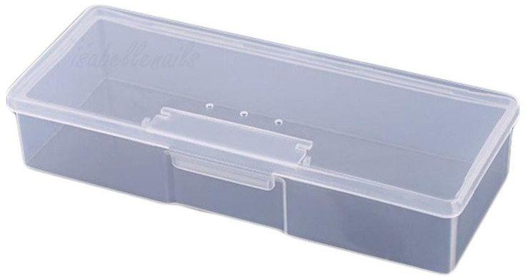 Puste zamykane pudełko na pilniki, pędzle i akcesoria