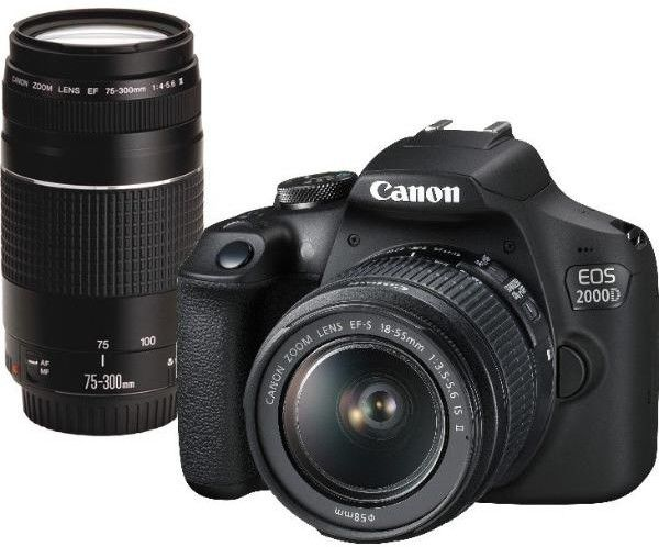 CANON EOS 2000D + 18-55 IS II + 75-300 III / WYSYŁKA GRATIS / RATY 0% / TEL. 500 005 235