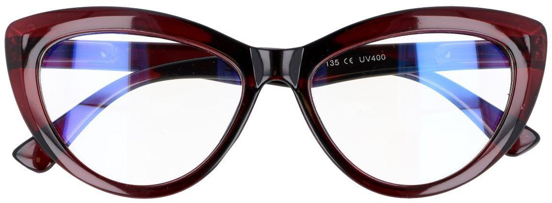 Kocie oczy Antyrefleks Zerowki okulary z filtrem Brązowe 2286B