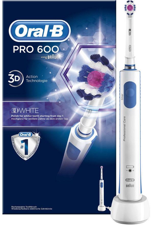 BRAUN ORAL-B PRO 600 3D White - wybielająca szczoteczka elektryczna
