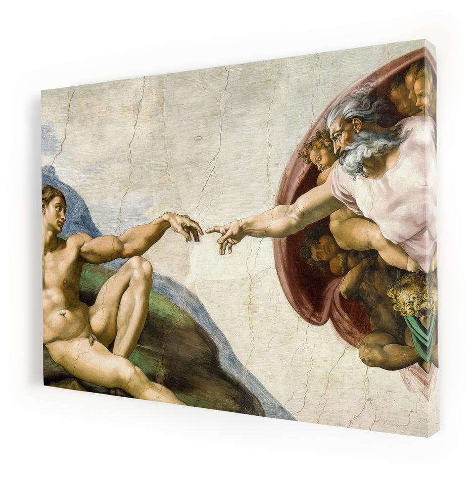 Stworzenie Adama, obraz religijny na płótnie