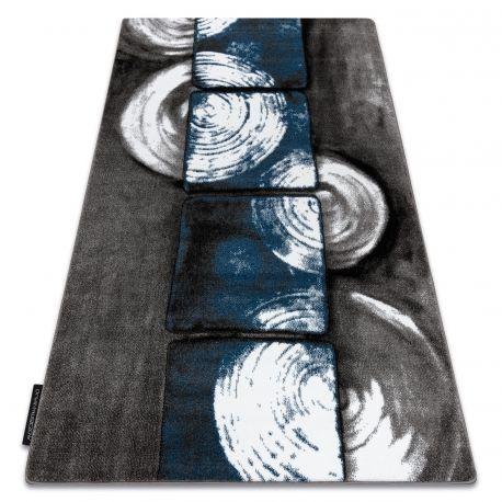 Dywan INTERO PHONO 3D Kwadraty niebieski 80x150 cm