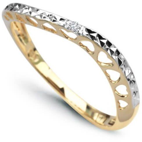 Złoty pierścionek PXD2715 - Diament