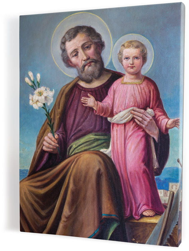 Święty Józef, obraz religijny na płótnie