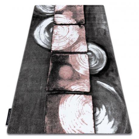 Dywan INTERO PHONO 3D Kwadraty różowy 80x150 cm