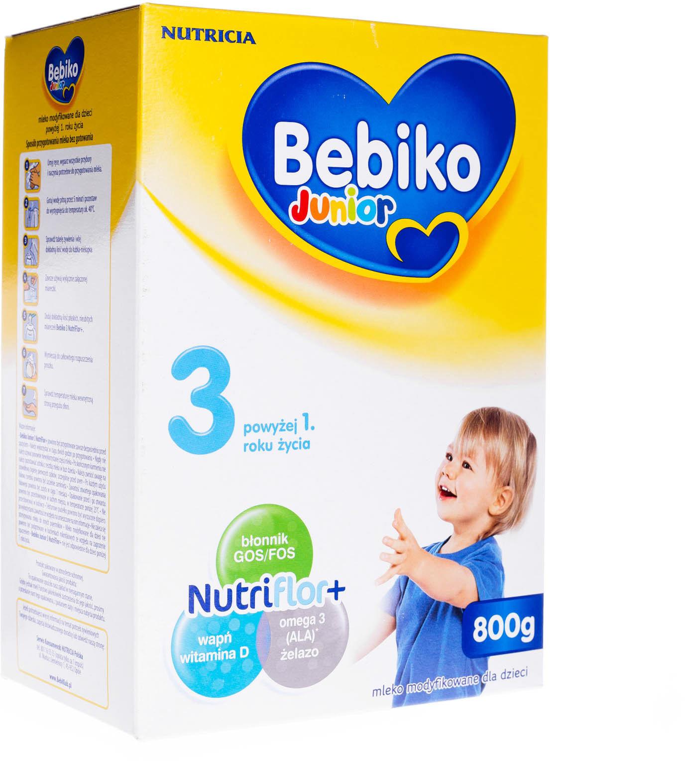 Bebiko Junior 3 mleko modyfikowane powyżej 1 roku życia proszek 800 g