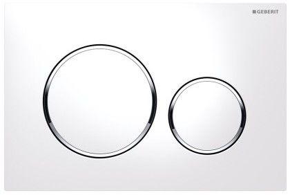 Sigma20 przycisk uruchamiający przedni do spłuczek podtynkowych UP320 biały/chrom błyszczący/biały - 115.882.KJ.1