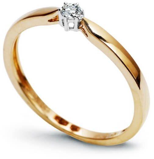 Złoty pierścionek PXD3500 - Diament
