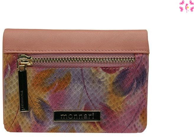 Portfel damski Monnari 1750 pink Crocco