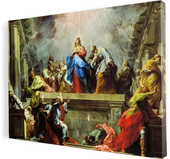 Zesłanie Ducha Świętego, obraz religijny na płótnie