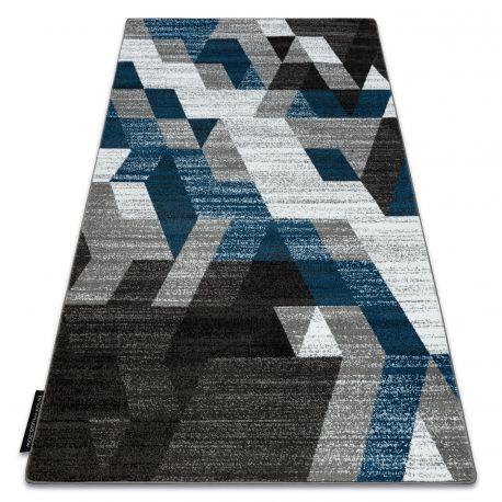 Dywan INTERO TECHNIC 3D Romby Trójkąty niebieski 80x150 cm