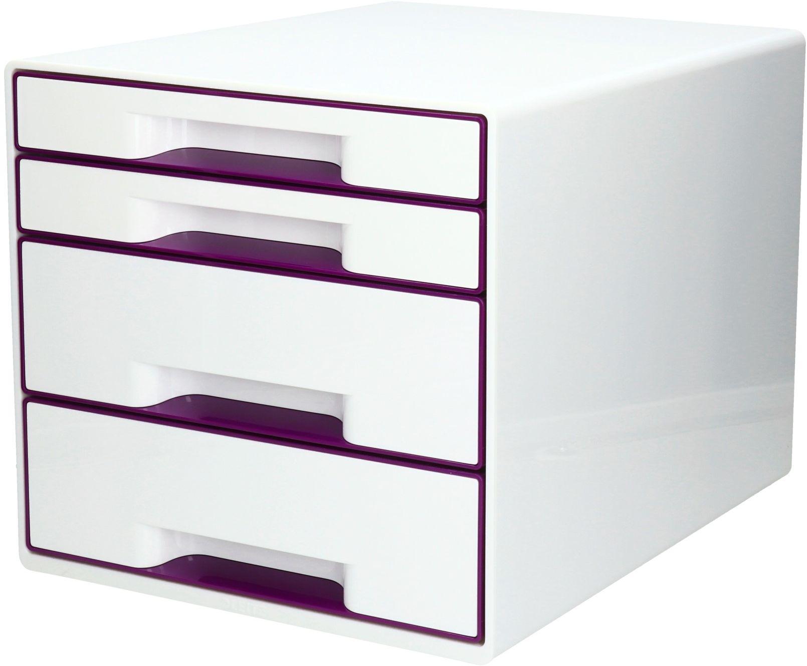Pojemnik dokumenty 4szuflady fioletowy WOW Leitz