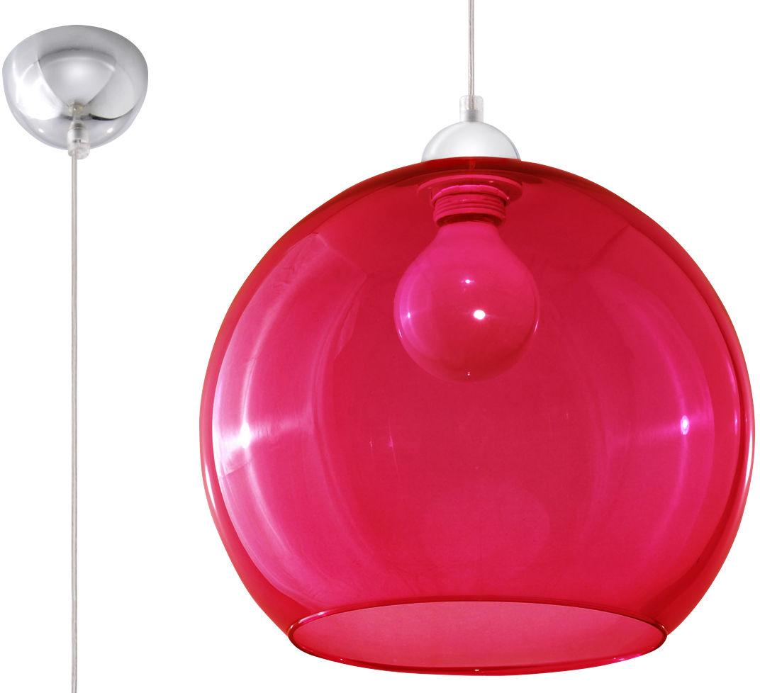 Lampa Wisząca BALL Czerwona - Sollux