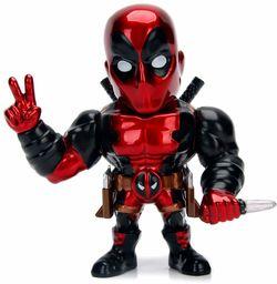 Jada Toys 253221006 Marvel Deadpool, 10 cm, figurka kolekcjonerska, odlew ciśnieniowy, czerwony