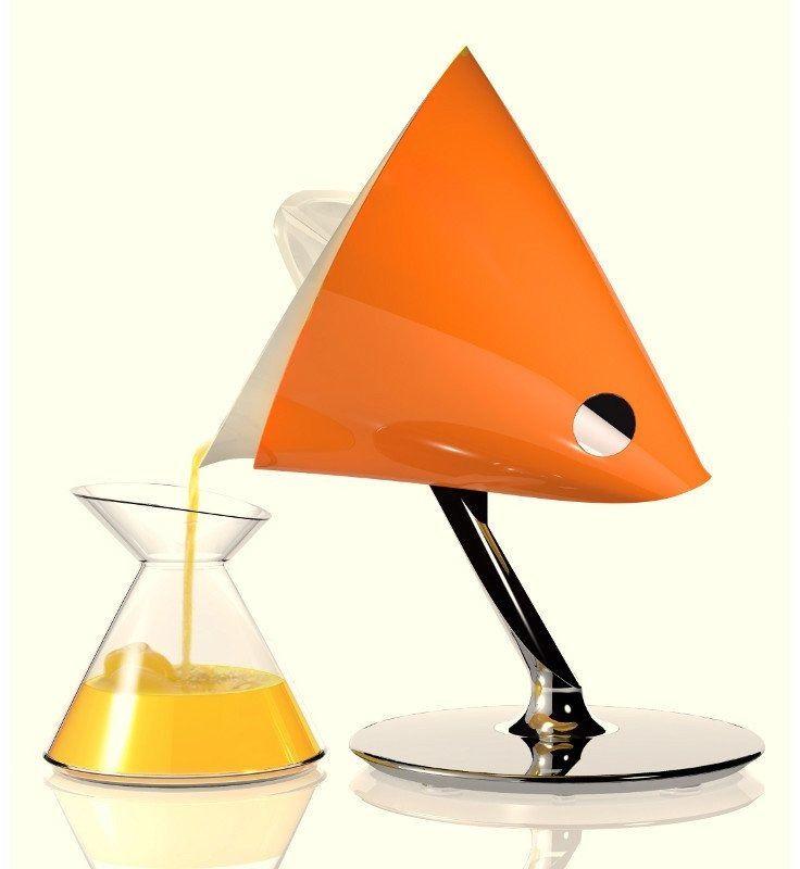 Casa bugatti - vita wyciskarka do cytrusów - pomarańczowa - pomarańczowy