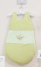 MAMO-TATO Śpiworek niemowlęcy haftowany Śpioch w hamaku w zieleni