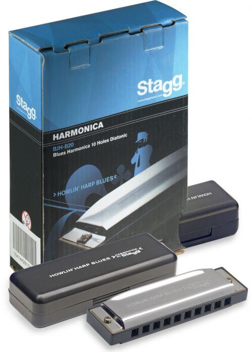 Stagg BJH B 20 H - harmonijka ustna, tonacja H-dur