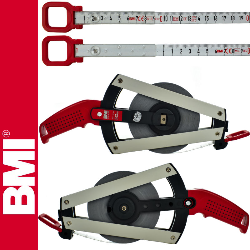 BMI - Taśma BMI WEISSLACK ERGOLINE 50m stalowa, lakierowana