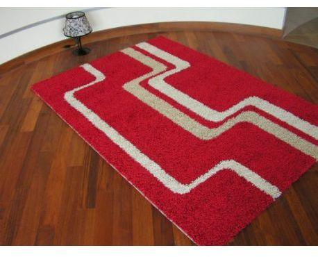 Dywan JAZZY DASH czerwień 100x200 cm