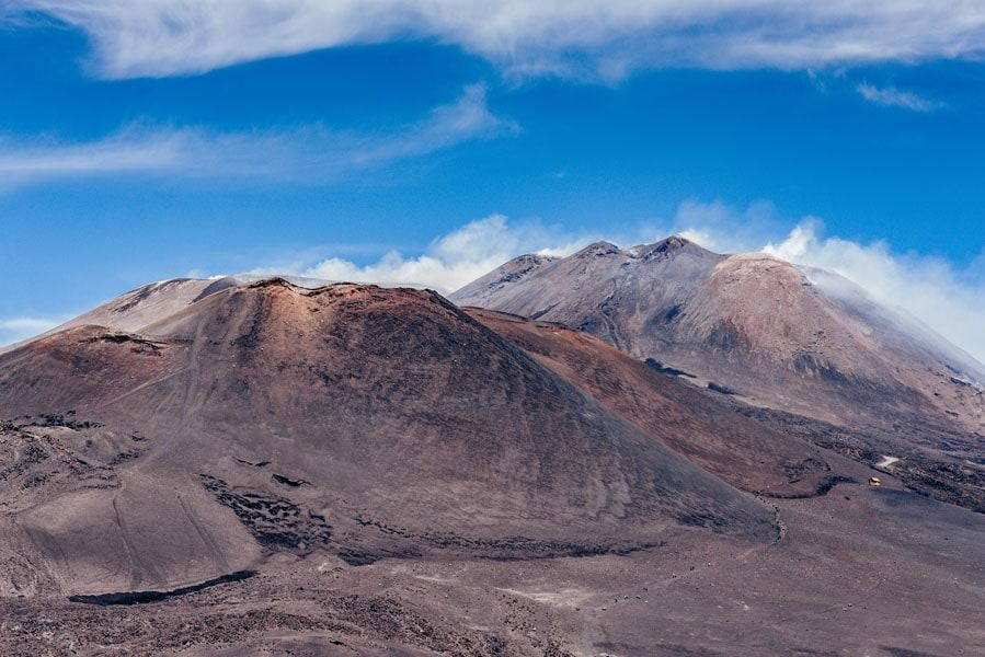Etna wulkan - plakat premium wymiar do wyboru: 59,4x42 cm