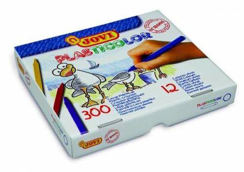 Kredki plastikowe JOVI 12 kolorów (300szt) 929