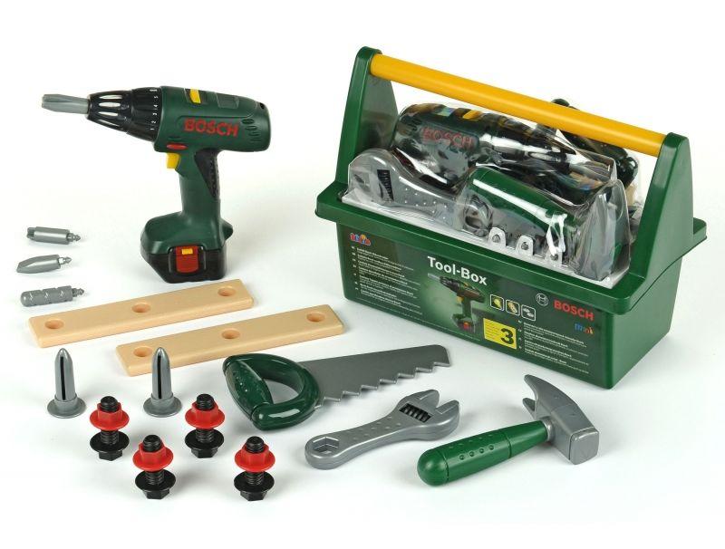 Bosch skrzynka z wkrętarką i narzędziami Klein LK