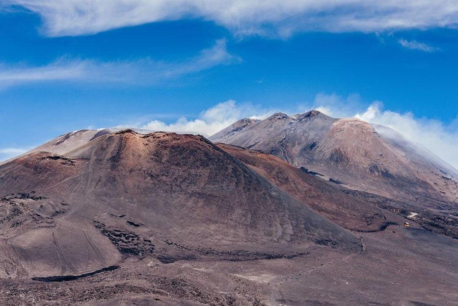 Etna wulkan - plakat premium wymiar do wyboru: 70x50 cm