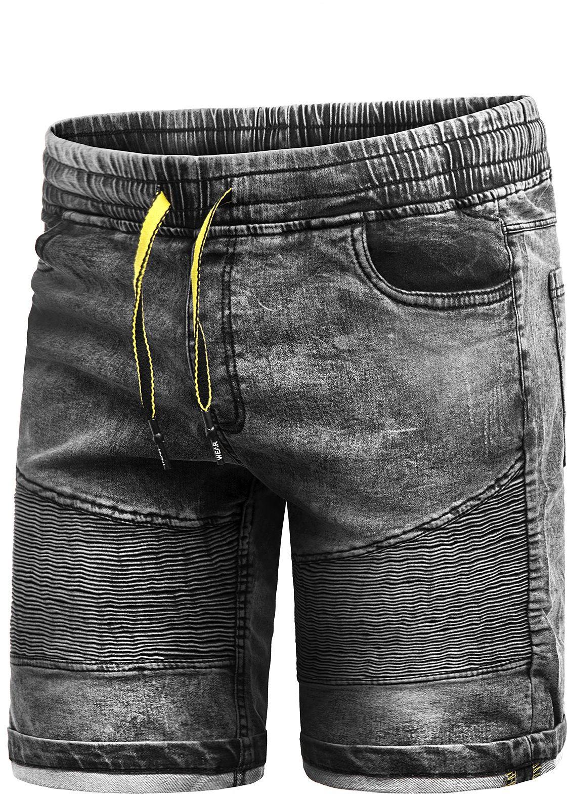 Spodenki męskie HY653 - szary jeans