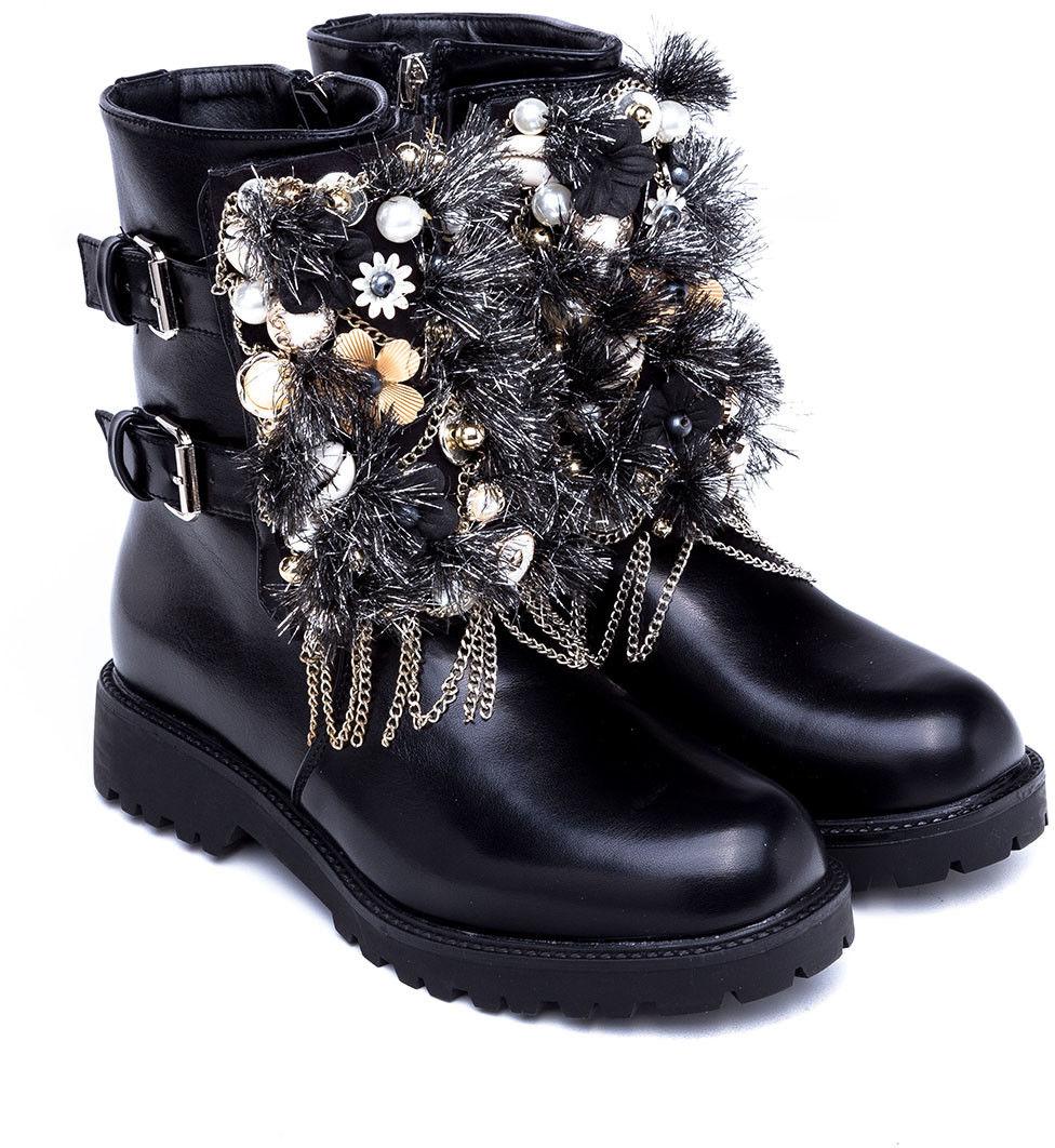 Botki damskie Ideal Shoes ES8519 Czarne