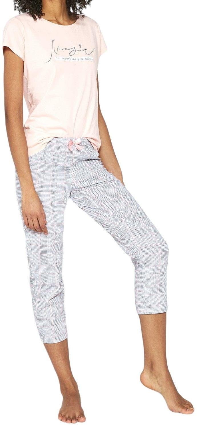 Bawełniana piżama damska Cornette 670/199 Magic różowa