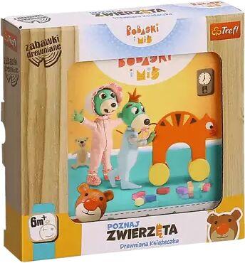 Zabawka drewniana Książeczka Bobaski i Miś Poznaj zwierzęta 61498 - Trefl PAP