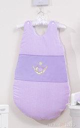 MAMO-TATO Śpiworek niemowlęcy haftowany Śpioch w hamaku w fiolecie
