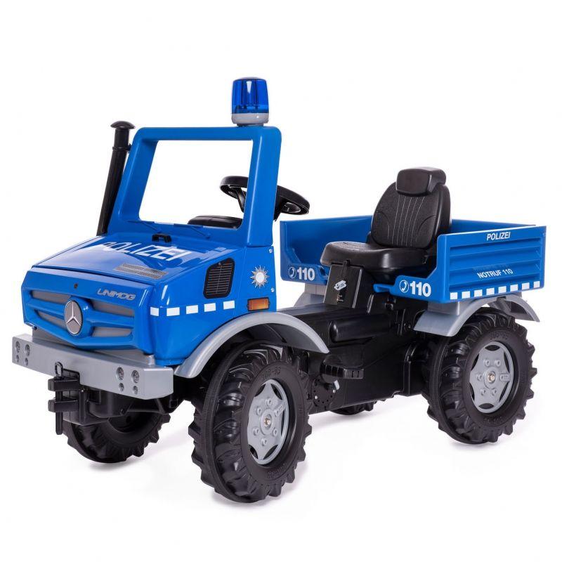 Rolly Toys Ciężarówka Samochód na pedały Unimog Merc-Benz Policja LK