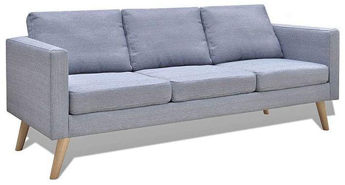 Sofa 3-osobowa Lavinia 2L - jasny szary