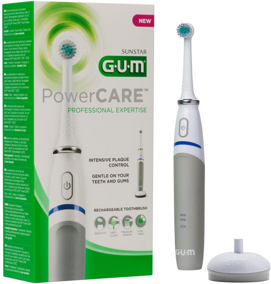 GUM POWER CARE 1szt. - szczoteczka elektryczna z dwiema końcówkami