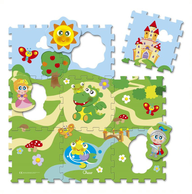 Chicco - Miękka mata Puzzle Zamek 53160