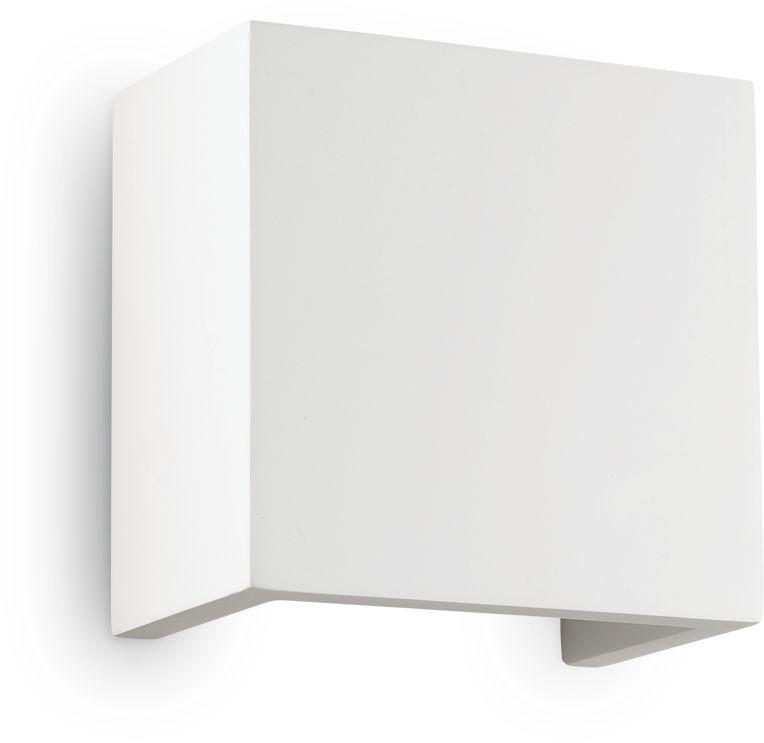 Kinkiet Flash Gesso AP1 Small 214672 Ideal Lux nowoczesna oprawa ścienna w kolorze białym