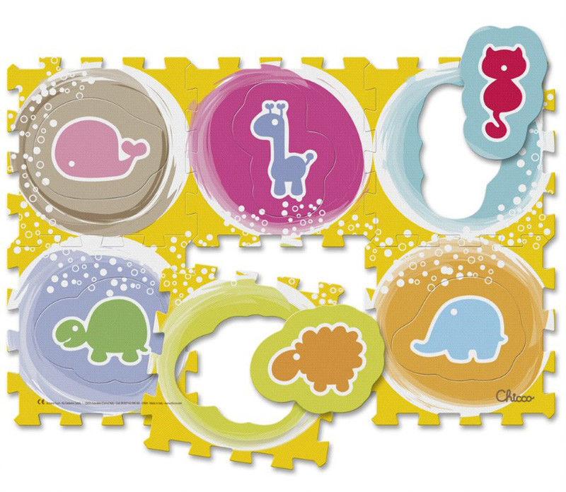 Chicco - Miękka mata Puzzle zwierzęta 07162