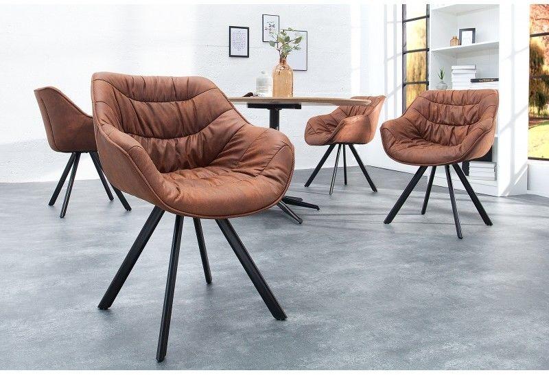 Krzesło Comfy Living brązowe