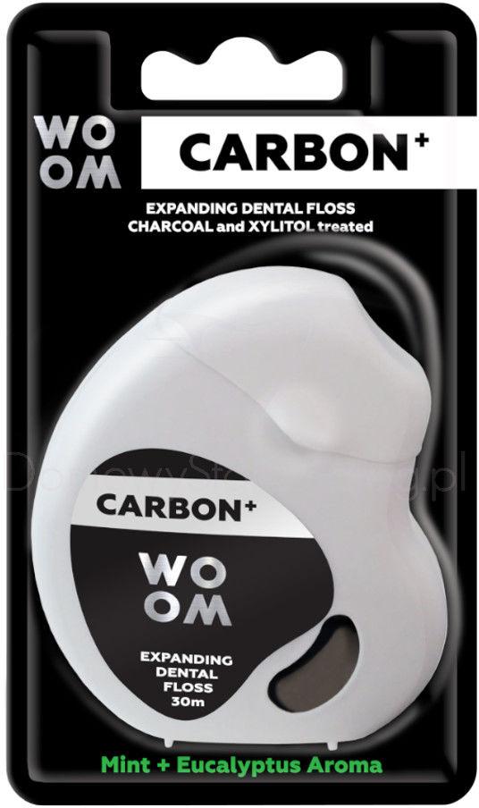 WOOM CARBON+ 30m - czarna nitka dentystyczna z węglem