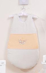 MAMO-TATO Śpiworek niemowlęcy haftowany Śpioch w hamaku brzoskwiniowy