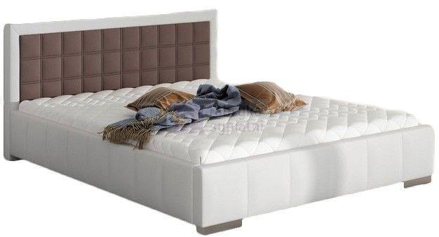 Łóżko 80270 tapicerowane z pojemnikiem na pościel M&K Foam KOŁO