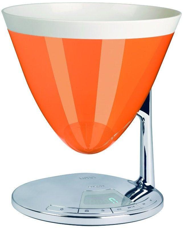 Casa bugatti - uma elektroniczna waga - pomarańczowa - pomarańczowy