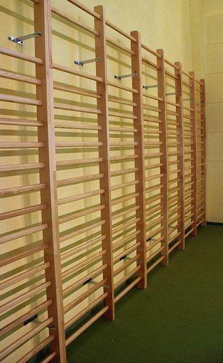 Drabina gimnastyczna pojedyncza 242x70 cm młodzieżowa + elementy montażowe