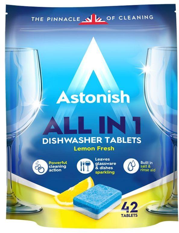 Astonish All In 1 Tabletki do zmywarki 42 szt lemon fresh