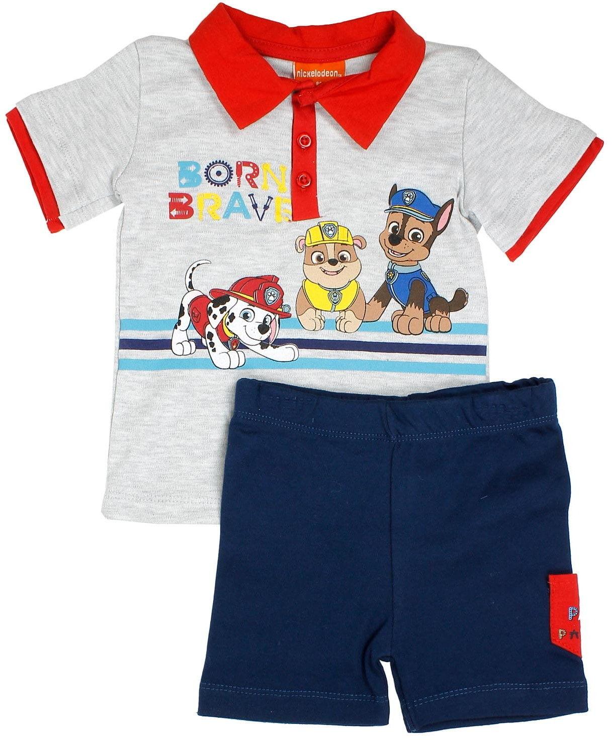 Komplet niemowlęcy dla chłopca PSI PATROL bluzka i krótkie spodenki