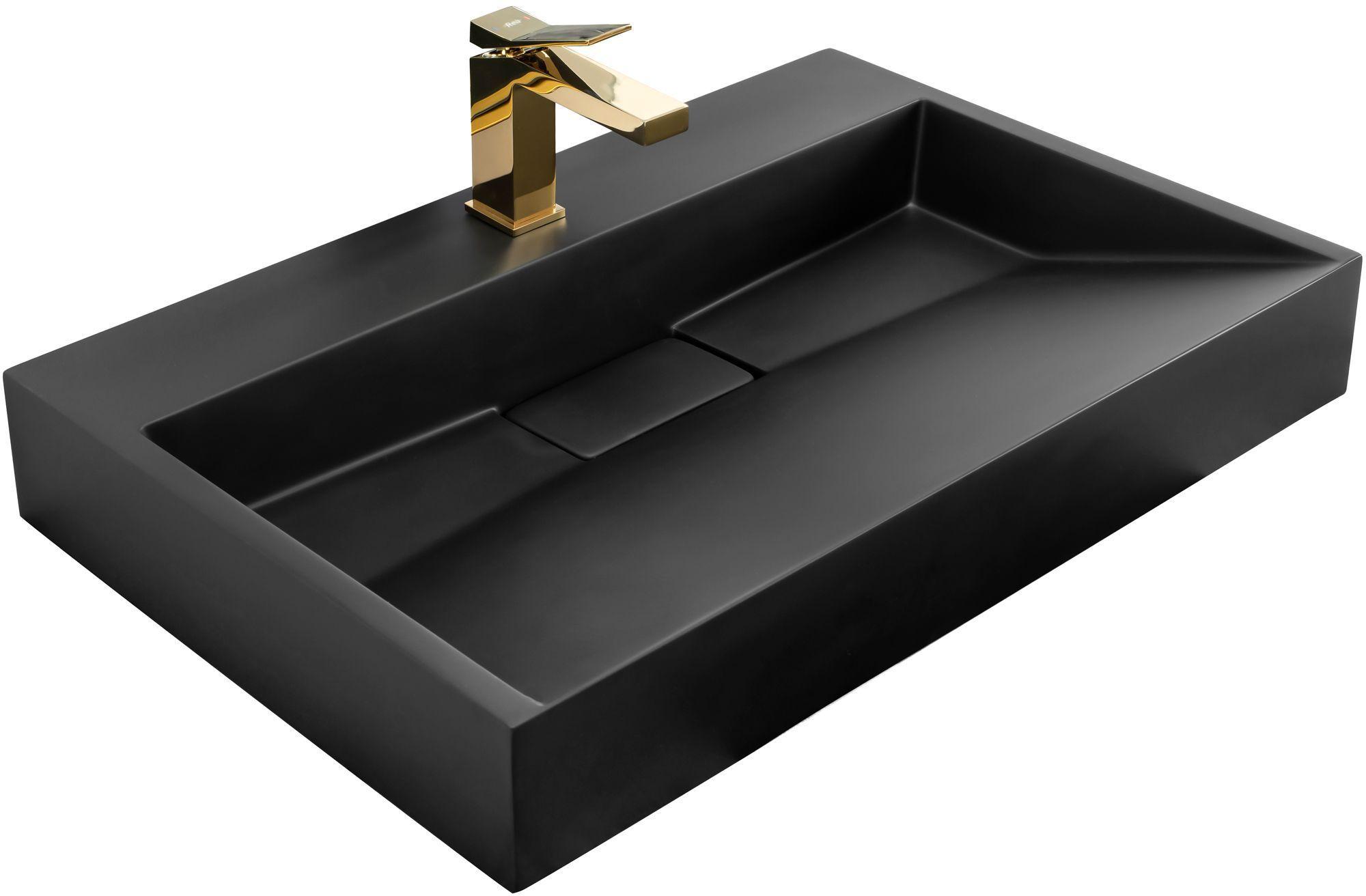 Rea Umywalka Konglomeratowa GOYA BLACK MAT 100CM