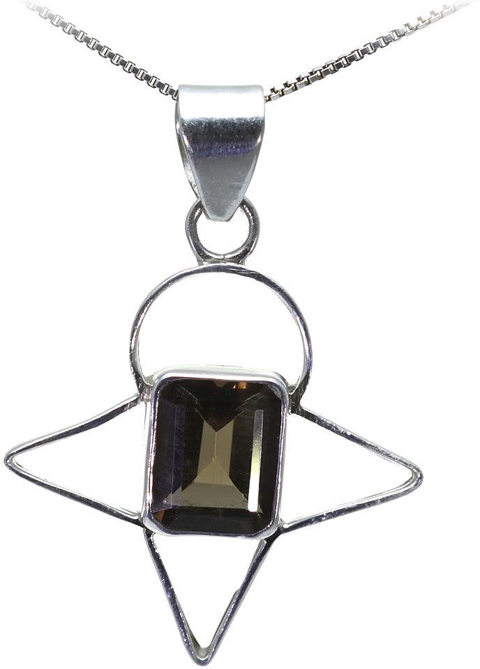 Kuźnia Srebra - Zawieszka srebrna, 46mm, Kwarc Dymny, 6g, model